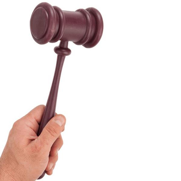 Martelo de Juiz em Plástico
