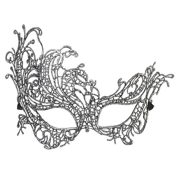 Máscara Barroca com Efeito Bordado