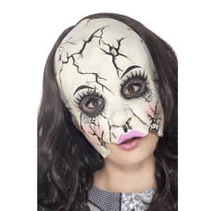 Máscara Boneca de Porcelana Partida Latex