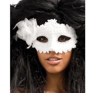 Máscara Branca Flor Veneziana