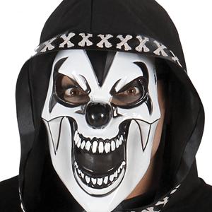 Máscara Branca Palhaço Sinistro, Adulto