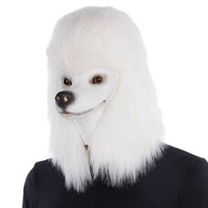 Máscara Cão Poodle Branco, Adulto