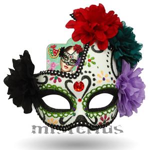 Máscara Catrina com Purpurina
