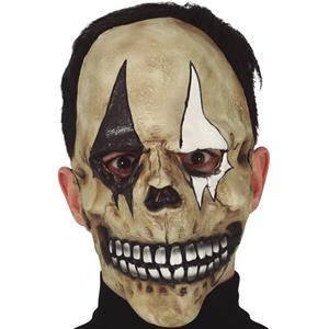 Máscara Caveira Arlequim em Látex