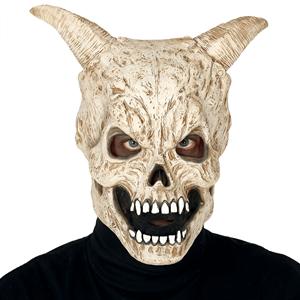 Máscara Caveira com Cornos em Látex