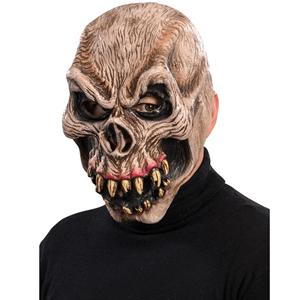 Máscara Caveira com Dentes Afiados em Látex