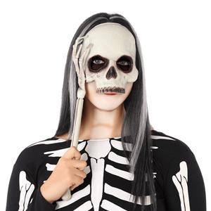 Máscara Caveira com suporte de mão esqueleto