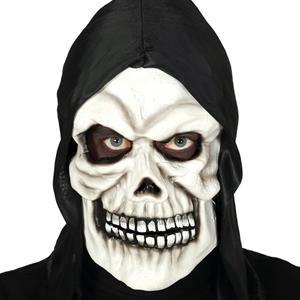 Máscara Caveira Diabólica com Capuz