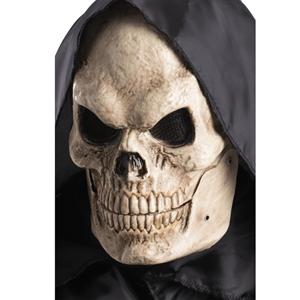 Máscara Caveira Plástica com Mandíbula Móvel