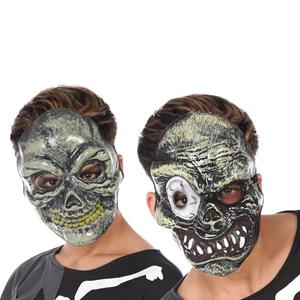 Máscara Caveira Zombie Verde em Plástico