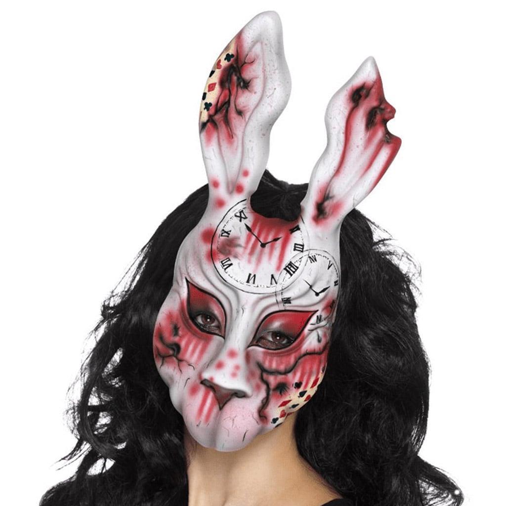 Máscara Coelho Assustador, Adulto