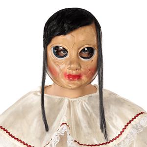 Máscara com Cabelo Preto e Cara Desfigurada