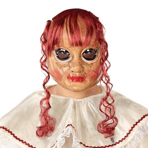 Máscara com Cabelo Vermelho e Cara Desfigurada