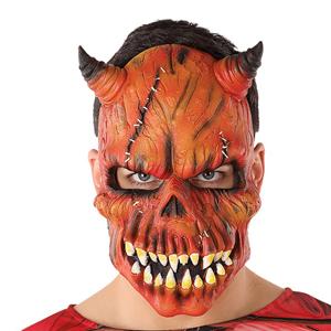 Máscara Crânio Diabo Desfigurado Halloween