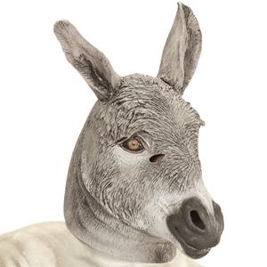 Máscara de Burro Cinzento em Látex