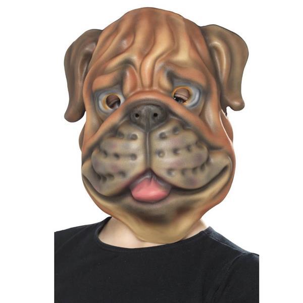Máscara de Cão Castanho em Eva