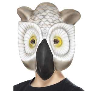 Máscara de Coruja Branca em EVA
