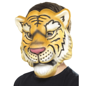 Máscara de Tigre Laranja em EVA