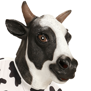 Máscara de Vaca em Látex