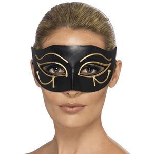 Mascara Egipcia Horus Preta Dourada