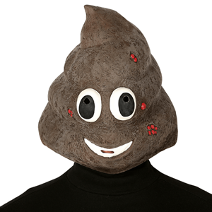 Máscara Emoji Cocó em Latex