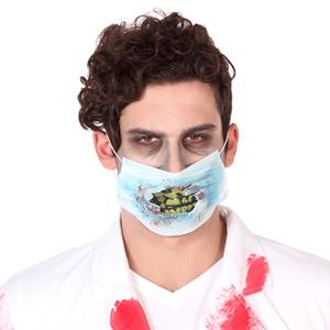 Máscara Enfermeiro Zombie com Sangue