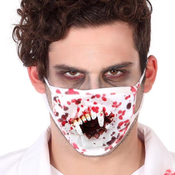 Máscara Ensaguentada com Dentes