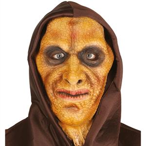 Máscara Homem Lagarto com Capuz em Látex