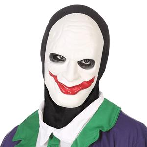 Máscara Joker com Capuz Preto