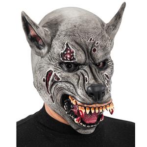 Máscara Lobo Zombie em Látex