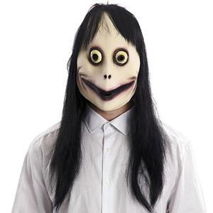Máscara Momo com Peruca, Adulto