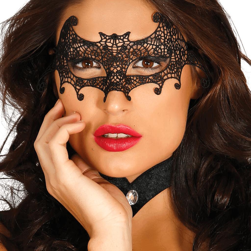 Máscara Morcego Bordada