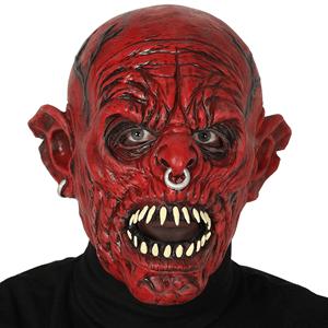 Máscara Orc Vermelho em Látex