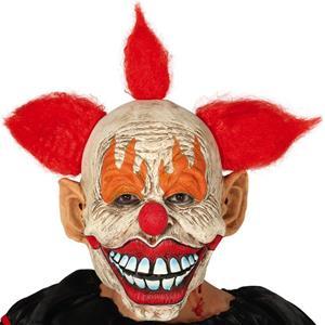 Máscara Palhaço Assassino com Cabelo em Látex
