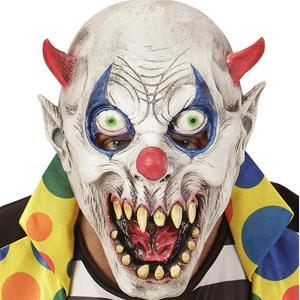 Máscara Palhaço Demoníaco com Cornos