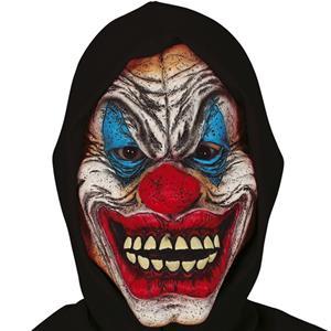 Máscara Palhaço Diabólico com Capuz em Látex