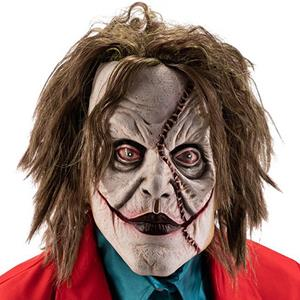 Máscara Palhaço Joker com Cabelo