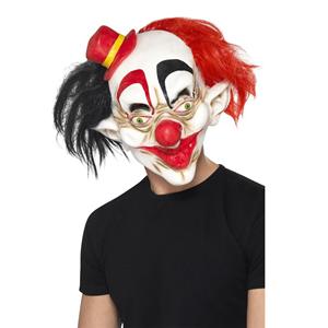 Máscara Palhaço Sinistro com Chapéu