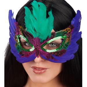Máscara Penas Colorida