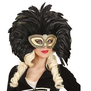 Máscara Plumas Pretas