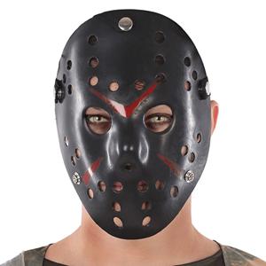 Máscara Preta de Jason em Plástico