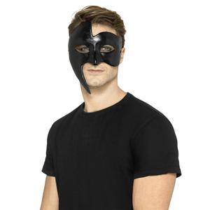 Máscara Preta Fantasma da Ópera em Gesso