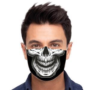 Máscara Reutilizável com Filtro Caveira, Adulto