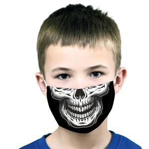 Máscara Reutilizável com Filtro Caveira, Criança