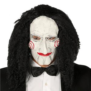 Máscara Saw com Cabelo, Adulto