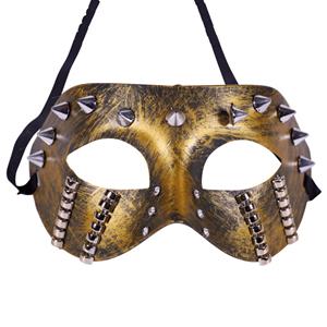 Máscara Steampunk com Picos Dourada