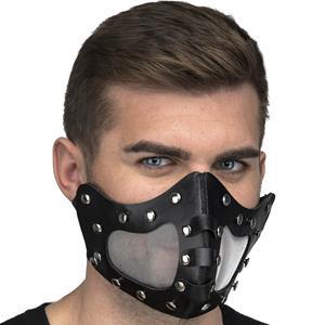 Máscara Steampunk com Picos Preta