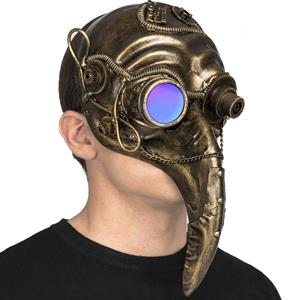Máscara Steampunk Dourada