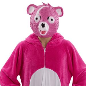 Máscara Urso Rosa Fortnite, Adulto