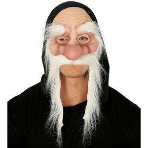 Máscara Velho com Cabelo e Capuz em Látex